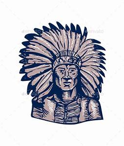 Native American Indian Chief Warrior EtchingNative by ...