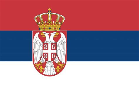 serbia flag coloring country flags