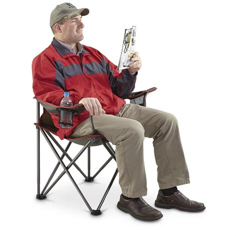 guide gear big boy folding cing arm chair 623493