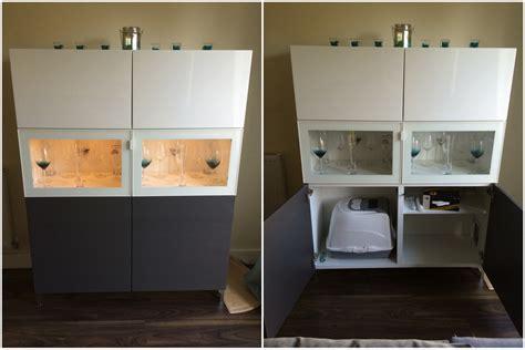 furniture kitchen cabinet a litter tray in a bestå unit ikea hackers