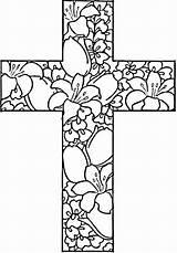 Salib Sketsa Coloring sketch template