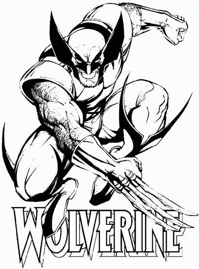Coloring Wolverine Pages Popular