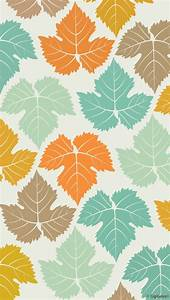 Colored maple leaves pattern wallpaper free iphone