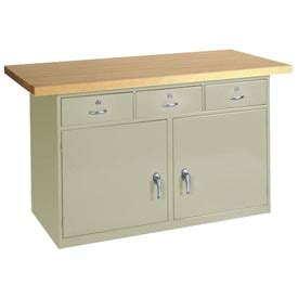 cabinet work benches heavy duty    maple top