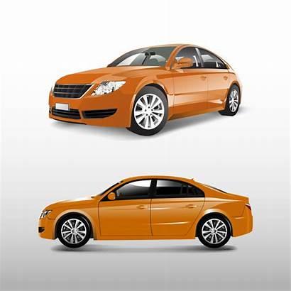 Vector Sedan Orange Freepik Isolated