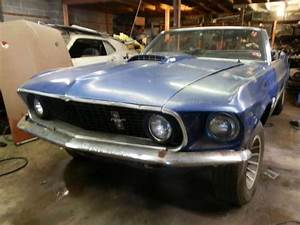 Sell used 1969 Ford Mustang 351W Convertible Rare Color Excellent High Value Project in ...