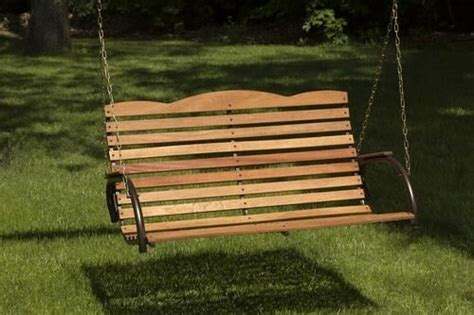 Wooden Porch Swings by New 4 Ft Premium Hardwood Wooden Porch Swing Bench Seat