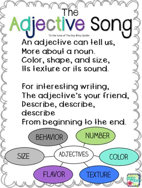 25+ Best Ideas About Adjectives Activities On Pinterest  Acrostic Poem For Kids, Adjectives For