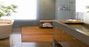 Caillebotis Bois Salle De Bain : 7 id es d co avec du bois pour refaire sa salle de bain ~ Premium-room.com Idées de Décoration
