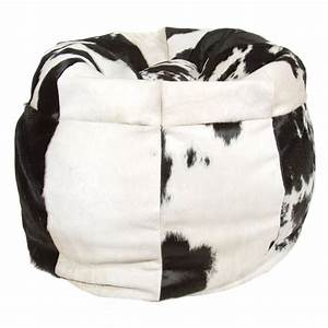 Extra, Large, Super, Soft, Luxury, Genuine, Real, Cow, Hide, Bean, Chair, Bean, Bag