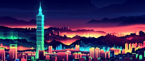 1080p Neon City Wallpaper by Neon City Wallpaper For Desktop And Mobiles 4k Ultra Hd