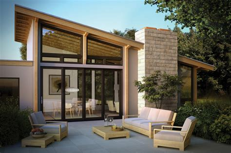 moving glass wall systems modern patio  metro
