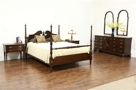 Used Ethan Allen Bedroom Furniture by Sold Ethan Allen Signed Vintage Cherry 6 Pc Bedroom Set