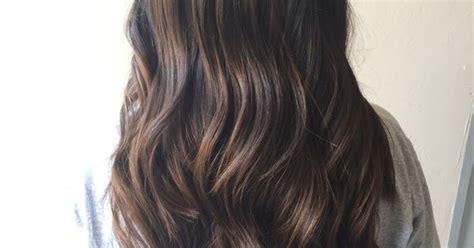 Dark Brown Neutral Balayage. Hair By Jamie Burrows