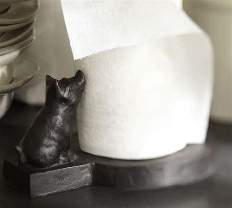 Vintage Blacksmith Pig Paper Towel Holder   Pottery Barn