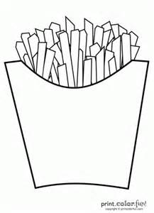 Fun Halloween Picture Books by French Fries Coloring Page Print Color Fun