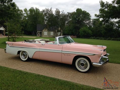 Pink Convertible Car For Sale by Pink W White Sweep 1956 Desoto Fireflite Convertible