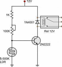 pulse count the number of flashes on a yellow led with 1 With sensor ldr circuit also simple relay circuit diagram together with led