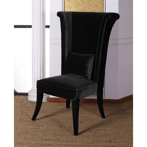 mad hatter dining chair in black velvet fabric dcg stores