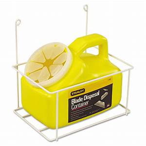 Stanley Tools Blade Disposal Container With Wire Rack  11