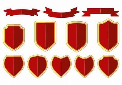 Shield Ribbon Blason Vektor Gratis Vetor Vetores