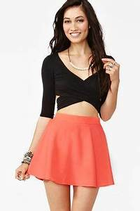 Flowy Short Skirt Fitted Top