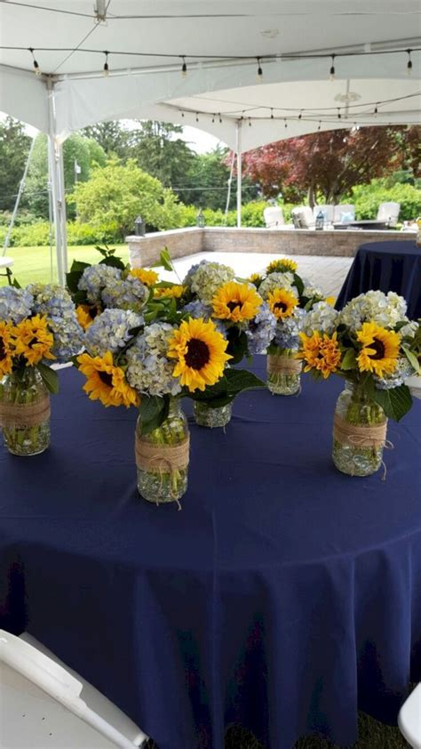 gorgeous sunflower wedding party decorating ideas oosile