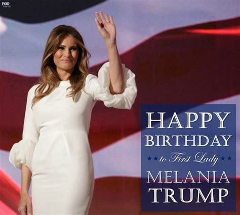 Happy Birthday Melania Trump, Our Lovely, Graceful First Lady - YouTube