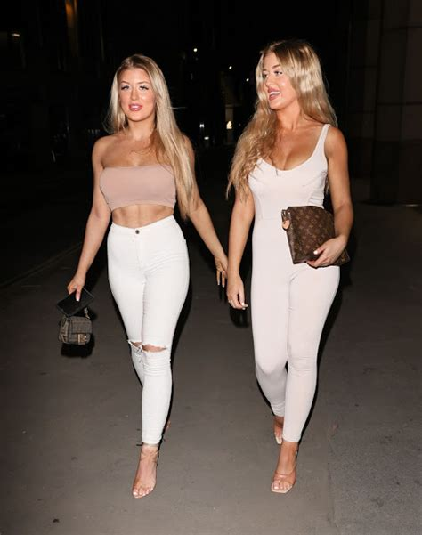 Eve Gale and Jess Gale - Love Island Twins Out in London ...