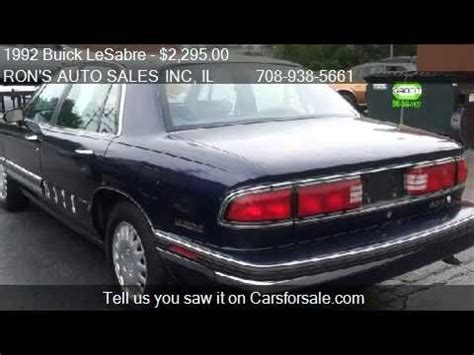 1992 Buick Lesabre For Sale by 1992 Buick Lesabre Limited For Sale In Park Il