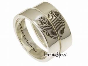 you complete me fingerprints in shape of heart set of With wedding ring with fingerprint