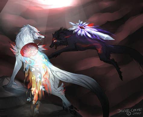 dark wolf vs deviantart anime darkside fox cookie grypwolf majestic animals