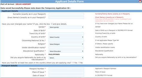 Application Form For Tourist Visa To India From Uk by How To Apply For Tourist Visa To India For Philippine