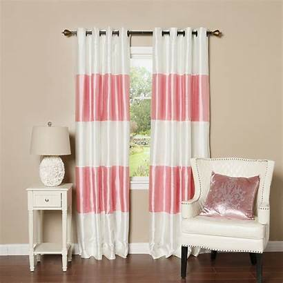 Grommet Curtain Panel Sheer Penny Pink Pairs