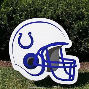 Indianapolis Colts Football Helmet | Yard Cards by Jess