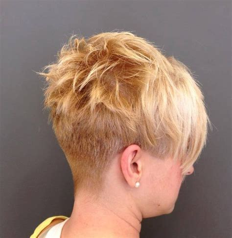 Short Hairstyle With A Buzzed Nape Hairstyles