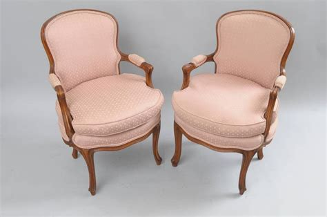 Pair Of Country French Louis Xv Style Armchairs Pink