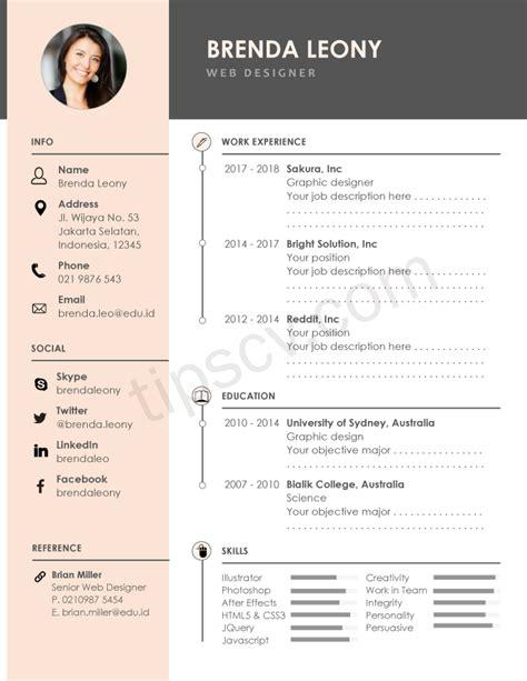 contoh cv pdf menarik