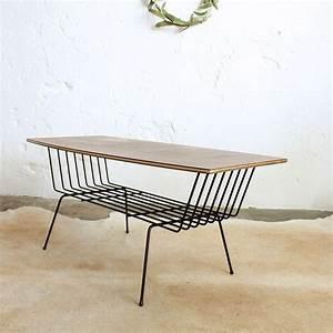 Table Basse Vintage : table basse vintage m tal f384 atelier du petit parc ~ Teatrodelosmanantiales.com Idées de Décoration
