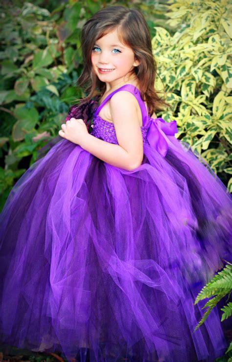 purple flower girl tutu dress deep purple tutu dresses