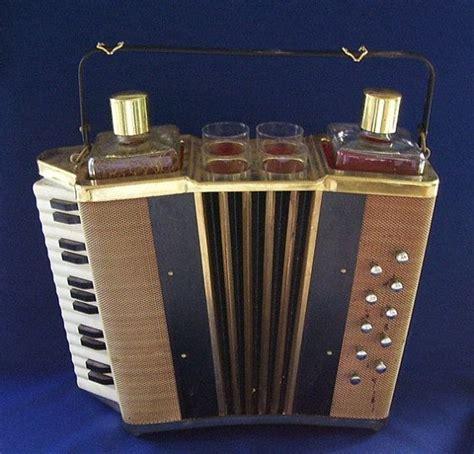 Unique Home Bar Accessories by Vintage Accordion Bar Accessories 2 Glass Decanters 4