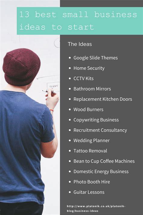Good Small Business Ideas Uk 2018  Ideas 2018