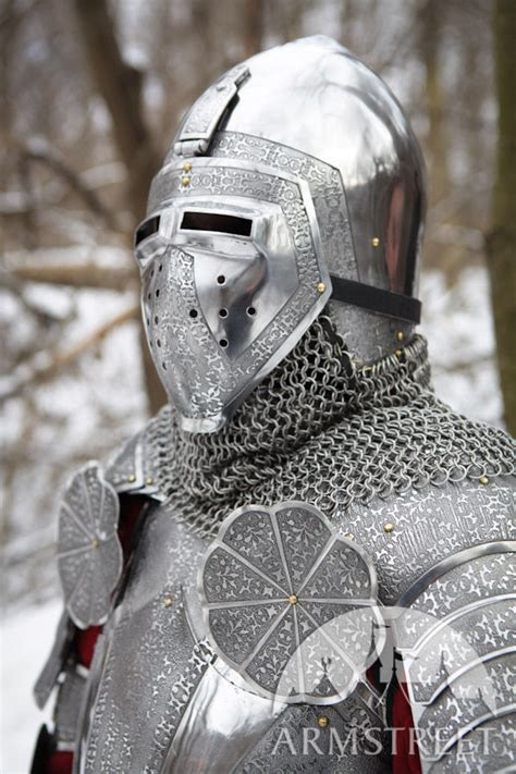 medieval heavy etched bascinet helm  sale