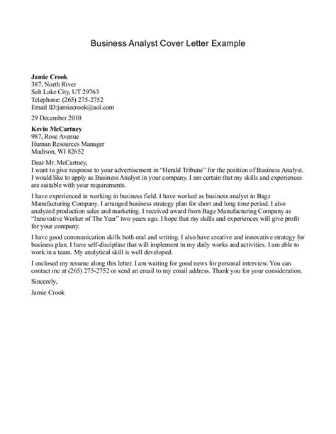 business analyst cover letter business analyst   accompanying business analyst sample