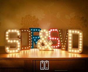 battery single marquee letter lights with warm white leds With battery operated marquee letters