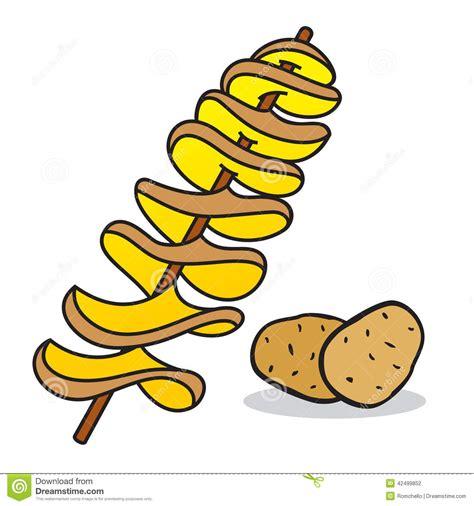 spiral potato stock illustration image