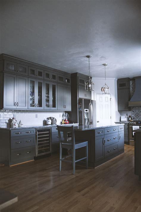 grey kitchen cabinets  quality stone quality stone