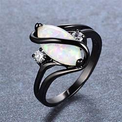 best deals on wedding rings bamos jewelry white opal black gold engagement wedding best friend rings for womens size 7 daily