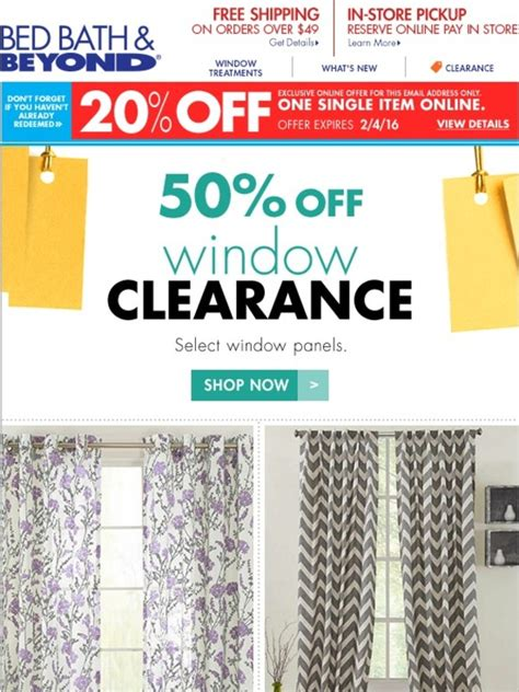 bed bath and beyond clearance window curtains we picked