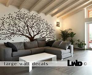 brown tree wall sticker kamos sticker With good look big tree decals for walls